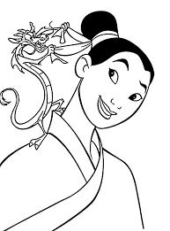 mulan coloring pages for kids printable free coloring pages
