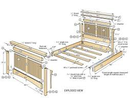 King Size Platform Bed Building Plans by Best 25 Woodworking Bed Ideas On Pinterest Wood Joining