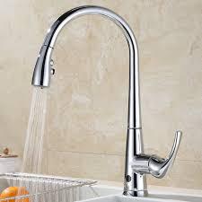 deck mount kitchen faucet runfine touchless single handle deck mounted kitchen faucet