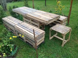 Pallet Wood Table Made By My Wonderful Husband Metal Carlisle by Pallet Garden Table U0026 Bench Pallets Gardens And Pallet Projects