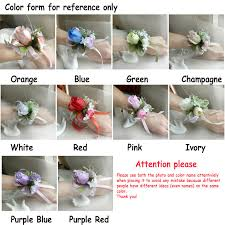 wedding flowers names aliexpress buy prom wrist flower corsage wedding flowers for