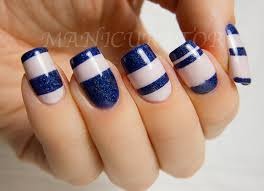 14 striped nail designs for the season nautical nail art