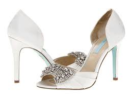 betsey johnson blue wedding shoes blue by betsey johnson gown ivory satin 6pm quinn s