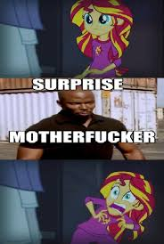 Suprise Mother Fucker Meme - 726495 dexter equestria girls exploitable meme meme rainbow