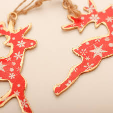 Deer Christmas Tree Decorations by Set Of 3 Reindeer Christmas Tree Decorations