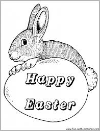 easter bunnies coloring pages pictures color free