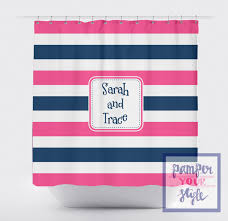Childrens Shower Curtains by Stripe Pink And Blue Shower Curtain Sibling Bathroom Brother
