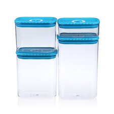 plastic kitchen canisters 4pcs kitchen canister set sealed plastic food storage container