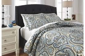 soliel 3 piece queen duvet cover set ashley furniture homestore