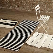 White Runner Rug Fresh Black And White Striped Runner Rug Homey Inspiration Home