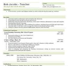 Free Teacher Resume Templates Resume Teacher Template For Ms Word Educator Resume Writing