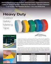 Floor Tape by Armadillo Reflective Non Skid Floor Tape