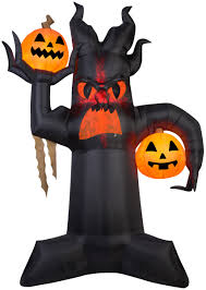 halloween inflatable 10 5 u0027 projection airblown kaleidoscope giant spooky tree halloween