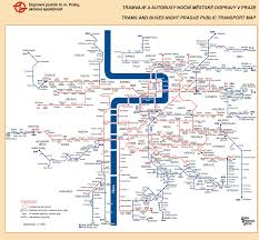 Prague Subway Map by Prague Night Public Bus Tram Map Prague Czech Republic U2022 Mappery