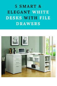 White Desk With File Cabinet by White Desk With File Drawer Furniturable