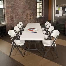 amazon com lifetime 22980 folding utility table 8 feet white
