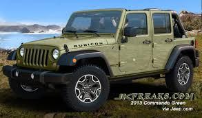 jeep rubicon green 2013 commando green who s sold