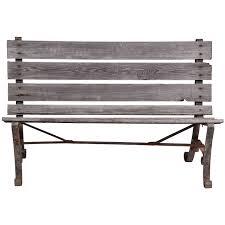 iron park benches old wrought iron two seater park bench at 1stdibs