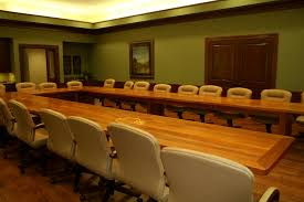 Large Conference Table Custom Inlaid Solid Wood Conference Tables