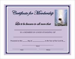 Church Membership Certificate Template membership certificate template 23 free word pdf documents