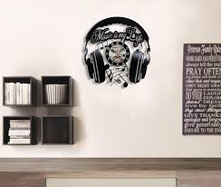 dj vinyl laser engraved wall clock for home decor next vibe