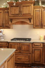 Cabinet Hoods Wood A Wood Hood Cabinet With Broan Insert Above A 5 Burner 30