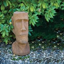 easter island god cast garden ornament