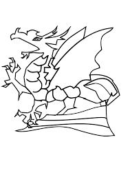 chinese dragon coloring sheet coloring