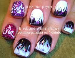 robin moses nail art no water marble neon green flames up to