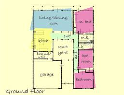 small courtyard house plans house with courtyard plan 431 11 by gregory la vardera like the