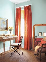 Curtain Color For Orange Walls Inspiration These Flowy Curtains Are Dreamy And Look At The Blue Walls They