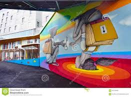 wall mural painting by famous french street artist seth editorial stock photo download wall mural painting by famous french