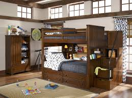 Bunk Bed With Crib On Bottom by Bedroom Cozy Twin Over Full Bunk Bed With Stairs And Decorative