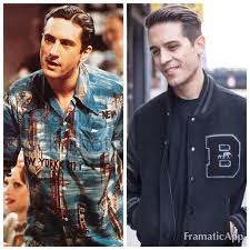what product does g eazy use in his hair is it me or does g eazy look like a young de niro yes please