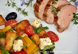 Ina Garten Salad Recipes by My Carolina Kitchen Herb Marinated Pork Tenderloin With A Greek