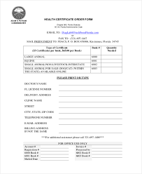 sample health certificate form 8 free documents in pdf