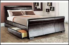 King Size Leather Sleigh Bed Leather Sleigh Beds King Size Bedroom Home Decorating Ideas