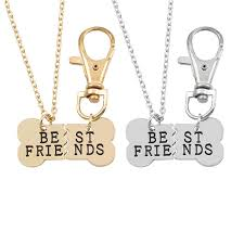 silver best friend necklace images 2017 2pcs set gold silver color dog bone best friends charm jpg