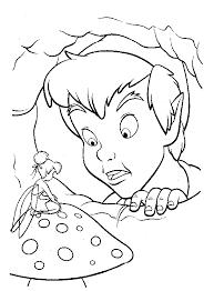 disney peter pan tinkerbell coloring disney coloring pages