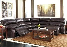 Small Sectional Sofa With Recliner by Black Leather Sectional Recliner And Sleeper Black Leather