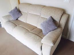3 Seat Recliner Sofa by Ncf 3 Seater Recliner Sofa Rrp 795 Beige Cream Colour In