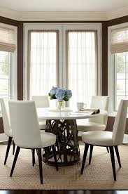 white leather dining chairs contemporary dining room the