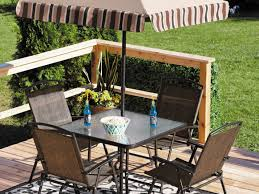 home decor patio table using planter boxes for built in drink