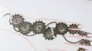 lotus flower and leaf front hand henna mehndi design tutorial