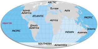 map world oceans map of oceans oceans of the world map and information 5 oceans