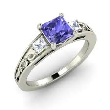 tanzanite engagement ring omega engagement ring with princess cut tanzanite vs