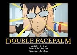 Double Facepalm Meme - anime facepalm anime amino