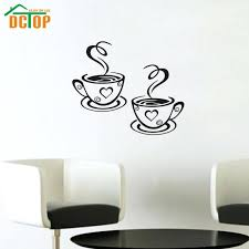 wall ideas top selling removable coffee house cup vinyl wall art wrought iron coffee cup wall decor double coffee cups wall stickers room decoration vinyl art wall decals adhesive stickers on the kitchen coffee cup wall