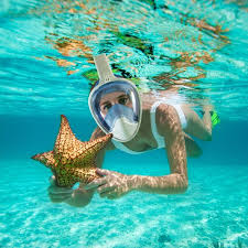 snorkeling images Ocean quest full face snorkeling mask jpg