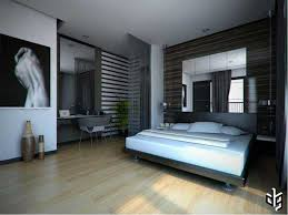 bedroom design with mirrored headboard and bedding also vanity